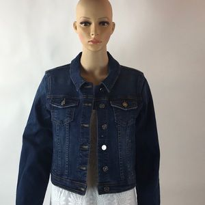 DISTRESSED CROPPED JEAN JACKET-MEDIUM WEIGHT